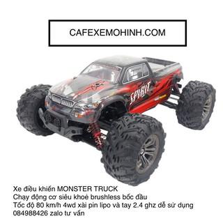 Xe điều khiển Monster Truck Spirit 60km bản Brushless Version