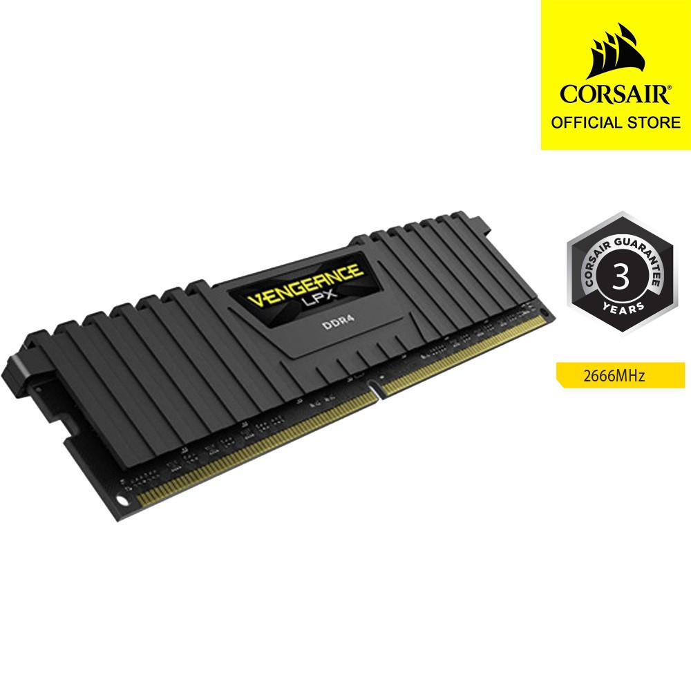 [CORSAIR11 giảm 80k] RAM CORSAIR VENGEANCE LPX CMK8GX4M1A2666C16 1x 8GB DDR4 Buss 2666 MHz