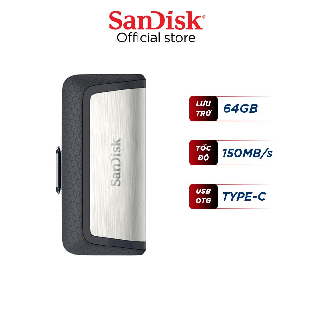 USB OTG 3.1 Gen 1 SanDisk Ultra 64GB Dual Drive USB Type-C upto 150MB/s