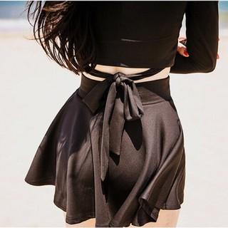 [Có sẵn] Bộ đồ bơi Bikini áo dài tay + chân váy 1855 Thời trang nữ