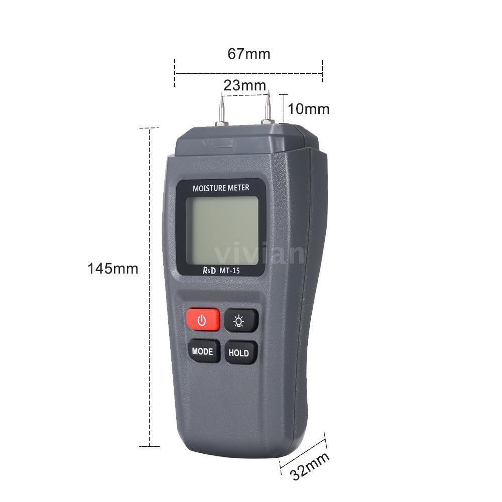 Máy đo độ ẩm gỗ cầm tay mt-15 màn hình LCD