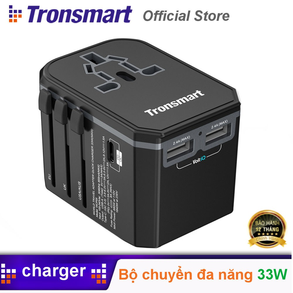 Sạc nhanh Tronsmart WCP05 33W PD3.0 & QC3.0 Quick Charge Travel Adapter Ch