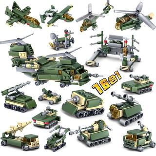 Đồ Chơi Lắp Ráp Kiểu LEGO Quân đội 16 biến thể trong 1 Model 84053 KAZI 600 Mảnh Ghép