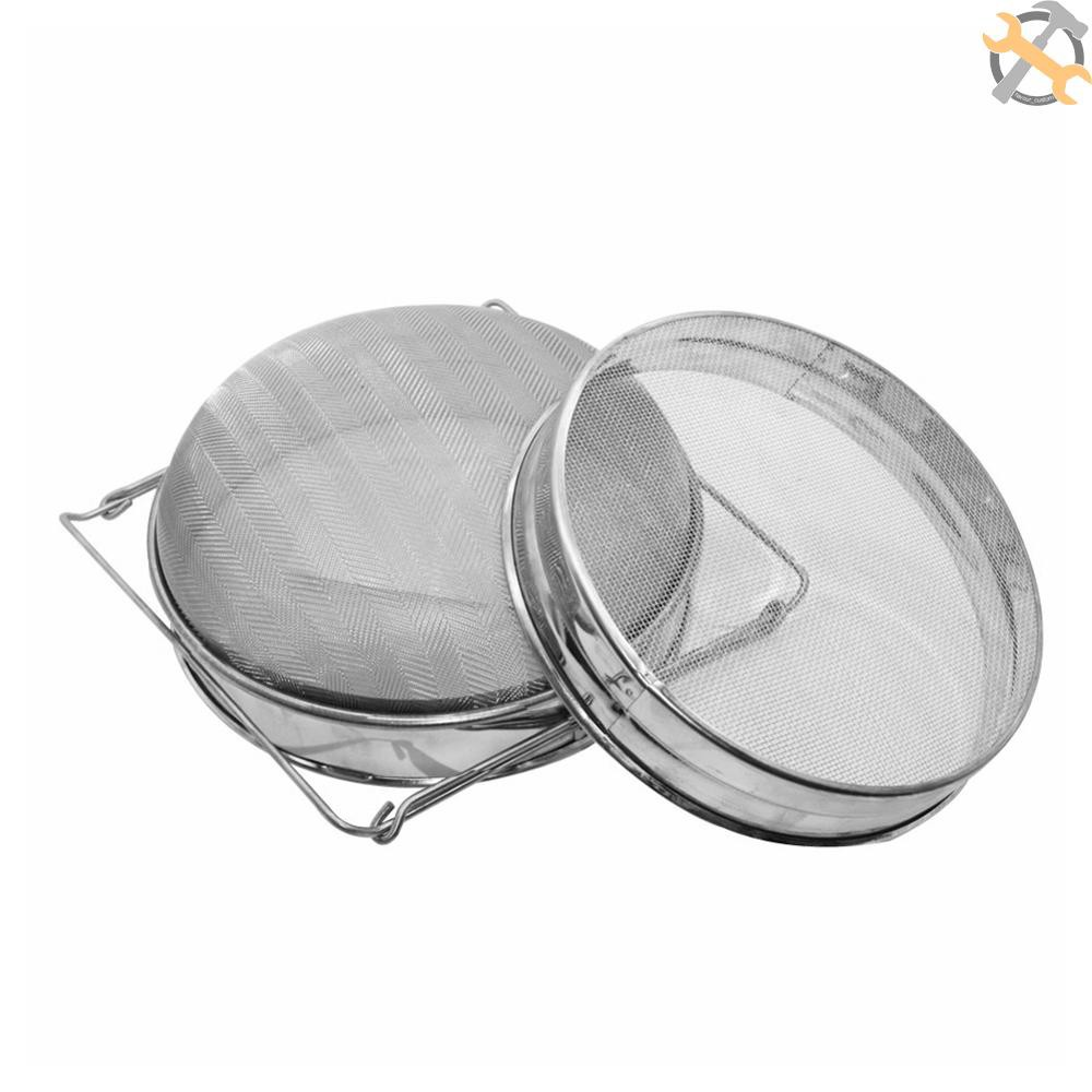 【cust】Stainless Steel Double-layer Honey Sieve Filtration Bee Honey Filter Strainer Machine Tool Extractor Beekeeping Tools