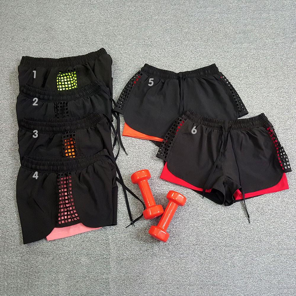 [Mã WASEPRN hoàn 20% xu đơn 99k] Quần short thể thao Boxer Laser 2 lớp cho Nữ, đồ tập gym, aerobic, thể dục