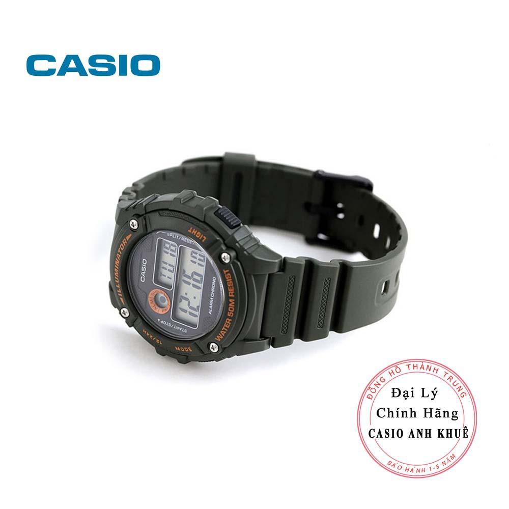 Đồng hồ điện tử nam Casio W-216H-3BVDF dây nhựa