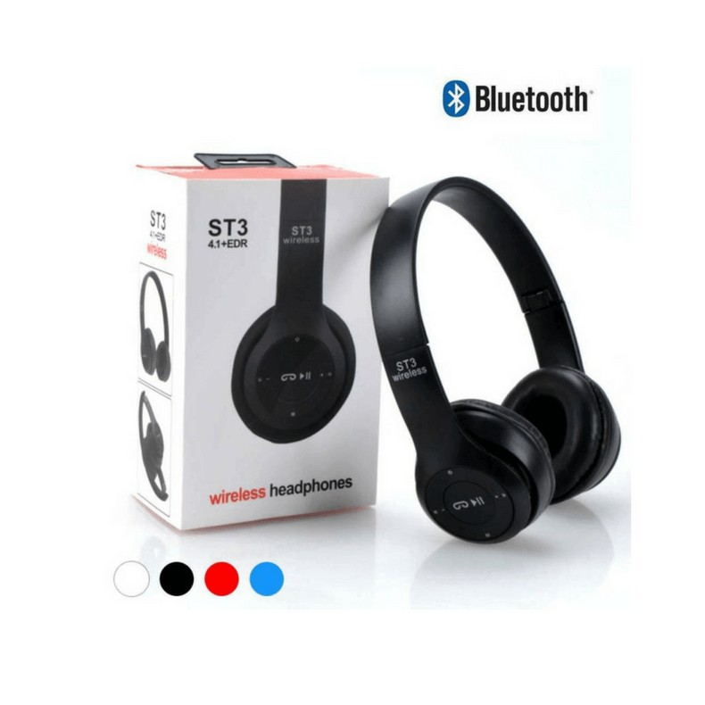 Tai Nghe Bluetooth Chụp Tai P47 màu đen dùng được thẻ nhớ kiêm blutooth nghe nhạc