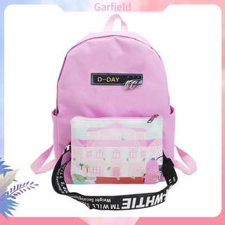 Graffiti Cartoon Style Shoulder Bag Student Couple Oxford Cloth Backpack