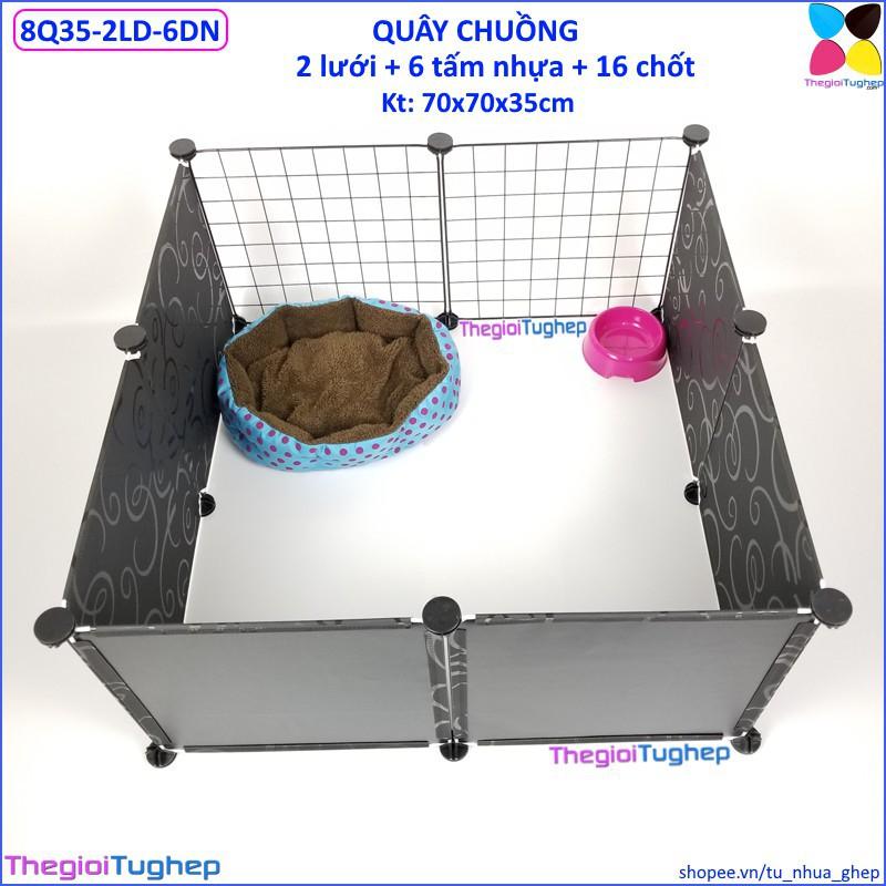 Quây chuồng lắp ghép cho chó, mèo bằng tấm ghép (2 lưới đen, 6 tấm nhựa đen vân, 16 chốt, tặng búa) - 13837621 , 2098798214 , 322_2098798214 , 208500 , Quay-chuong-lap-ghep-cho-cho-meo-bang-tam-ghep-2-luoi-den-6-tam-nhua-den-van-16-chot-tang-bua-322_2098798214 , shopee.vn , Quây chuồng lắp ghép cho chó, mèo bằng tấm ghép (2 lưới đen, 6 tấm nhựa đen v