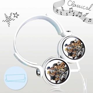Tai nghe ATTACK ON TITAN thiết kế thông minh cá tính cắm dây có mic anime chibi