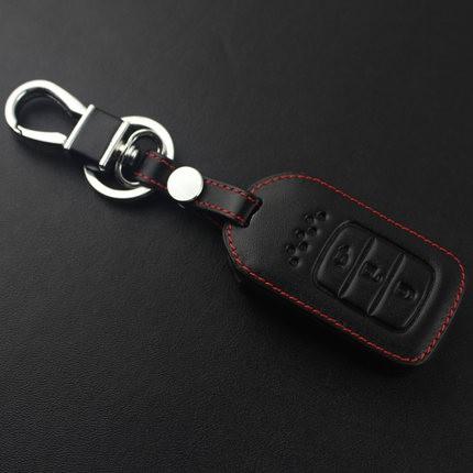 bao da chìa khóa đen chỉ đỏ xe HONDA CITY, HONDA CRV 2018
