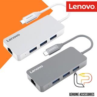 MULTIPORT HUB TYPE-C RA 3 USB 3.0 + LAN LENOVO (C506GY) - HUB CHUYỂN TYPE-C RA 3 USB 3.0 + LAN LENOVO (C506GY)