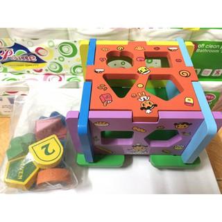 Đồ chơi thả hình khối bằng gỗ