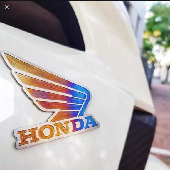 Cặp Tem Cánh Chim Honda Titan Dán Nhiều Xe