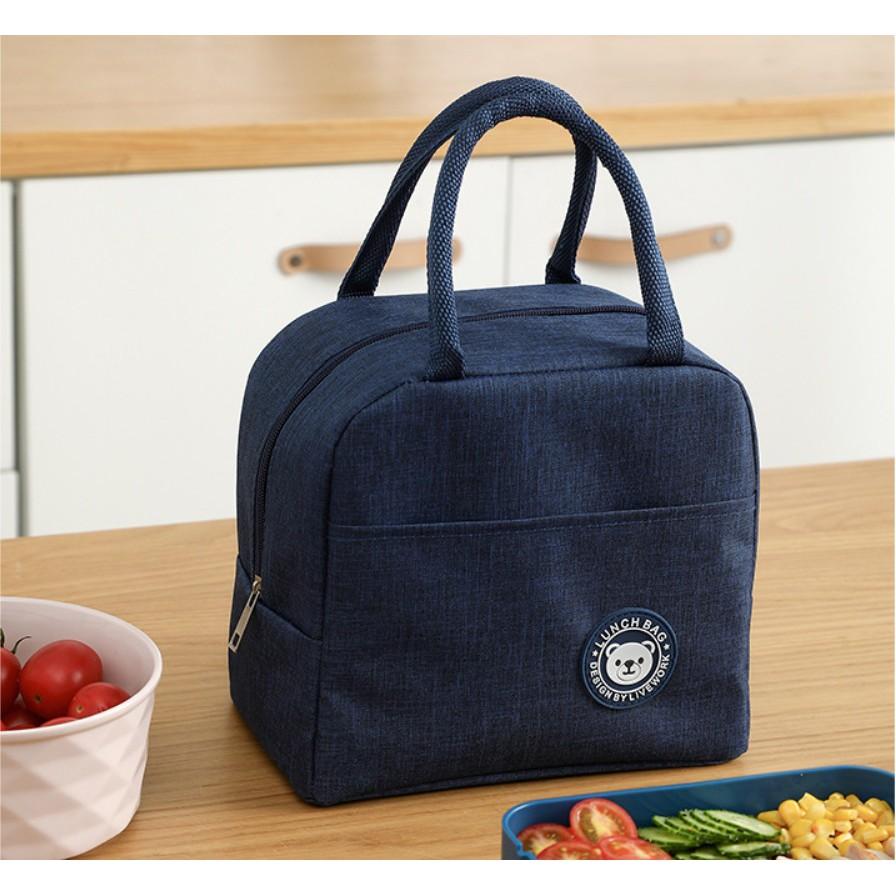 Túi giữ nhiệt đựng hộp cơm văn phòng chống nước tiện ích