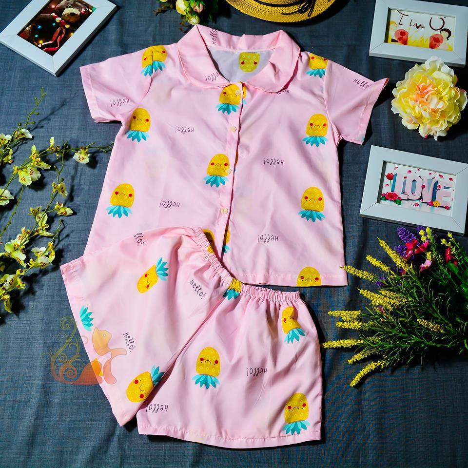"""Đồ ngủ Pijama - """"Trái thơm vui vẻ"""" Siêu Cute - Cho bé gái 30-45kg - 3111402 , 757359106 , 322_757359106 , 100000 , Do-ngu-Pijama-Trai-thom-vui-ve-Sieu-Cute-Cho-be-gai-30-45kg-322_757359106 , shopee.vn , Đồ ngủ Pijama - """"Trái thơm vui vẻ"""" Siêu Cute - Cho bé gái 30-45kg"""
