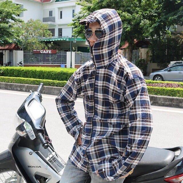 Áo chống nắng nam 2 lớp + khẩu trang