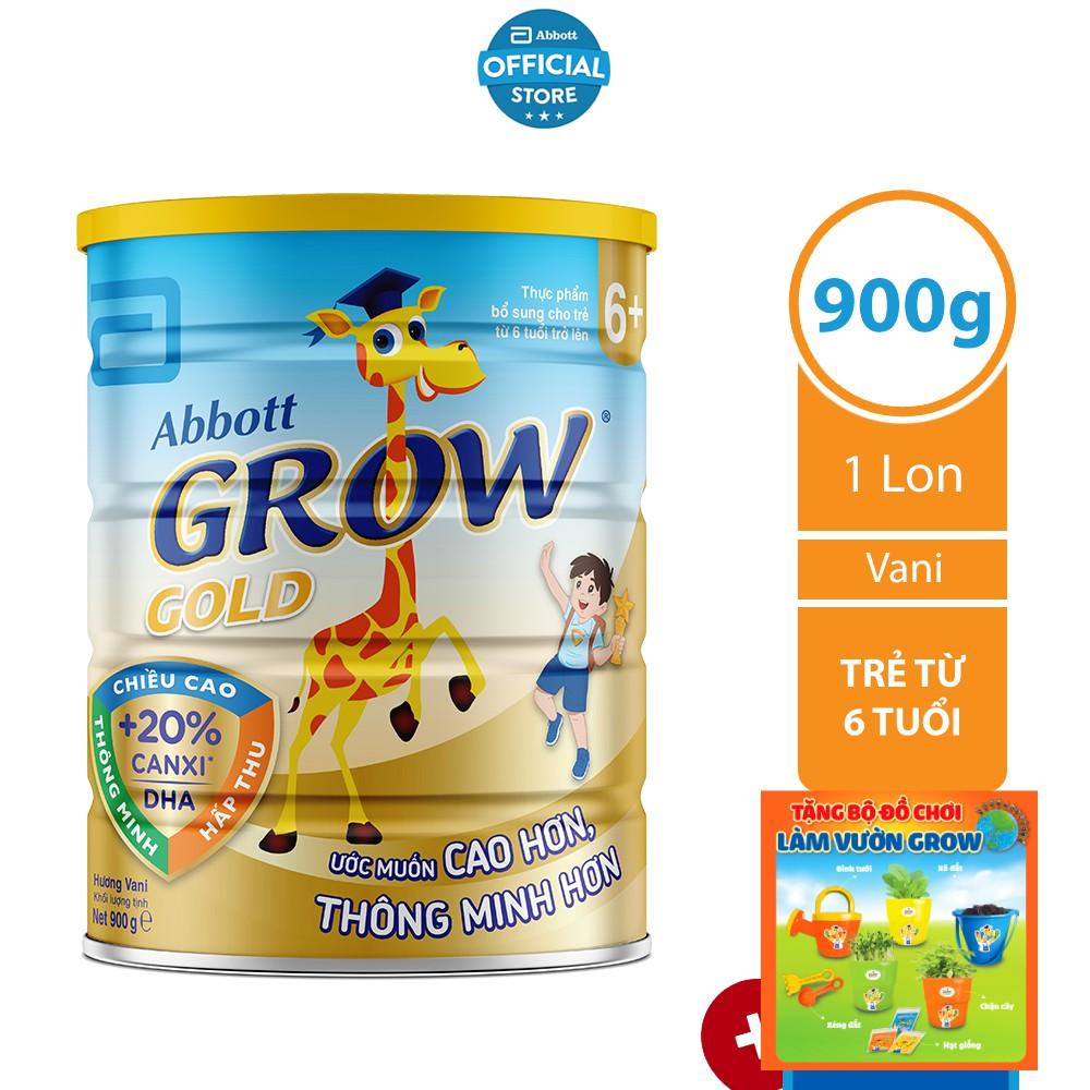 SỮA BỘT ABBOTT GROW GOLD 6+ 900G/LON