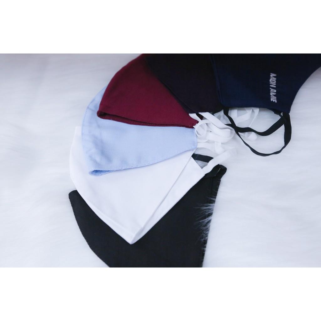 [FREESHIP TOÀN QUỐC] Combo 5 Khẩu Trang Vải Kháng Khuẩn MON AMIE Chống Bụi Cao Cấp Có Thể Tái Sử Dụng