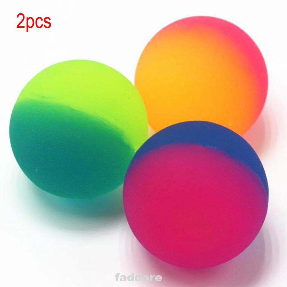 Birthday Gashapon Machine Double Color Rubber Flashing Toy Kids Luminous Gift 32cm Bouncy Ball