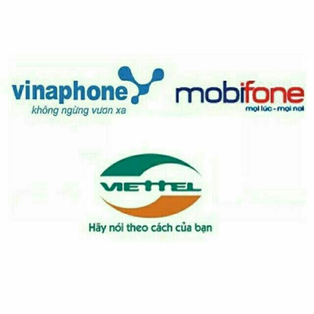 Thẻ card điện thoại Viettel Mobifone Vinaphone