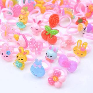 Children's Jewelry Ring Gift Birthday Party Gifts Kids Animal Kinds Princess acrylic resin ring