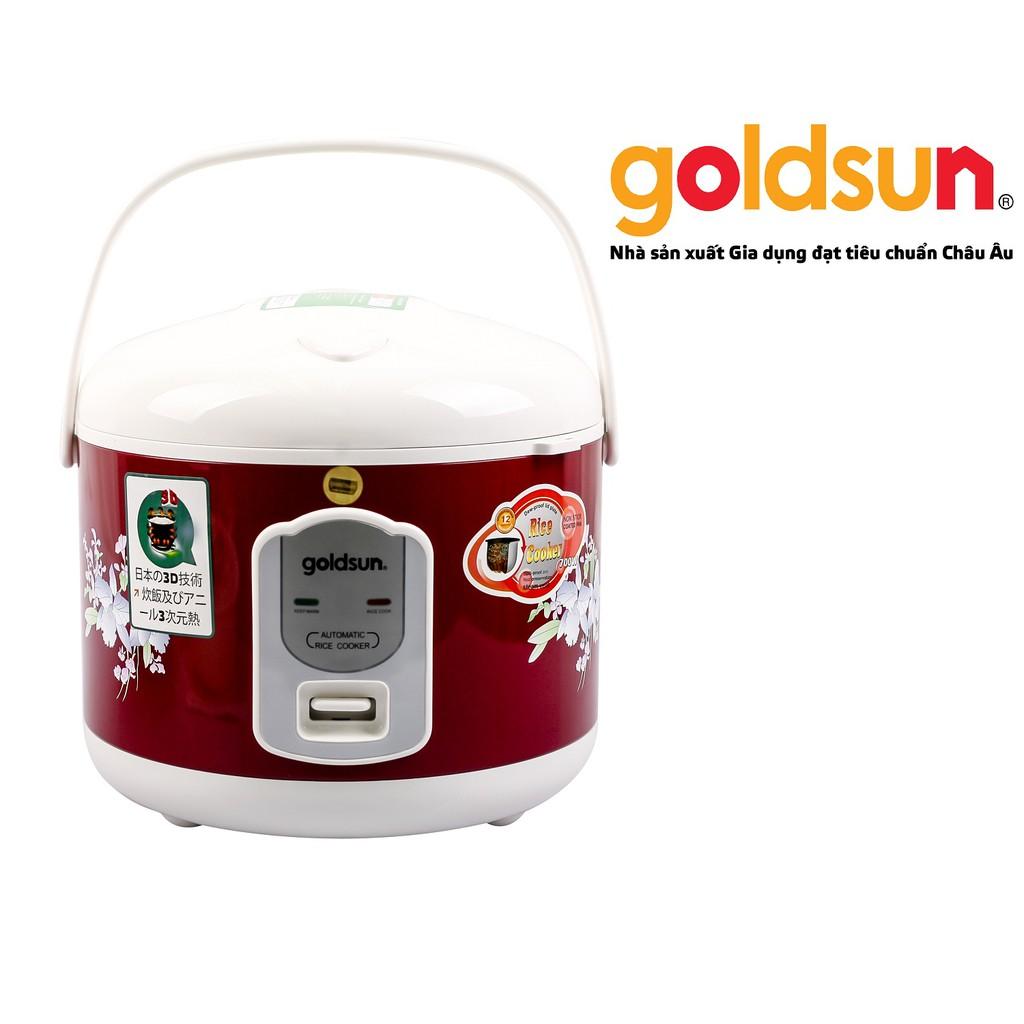 Nồi cơm điện 3D nắp gài Goldsun 1,8 lít ARC-G181XD