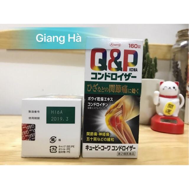 Viên uống bổ khớp Q&P Kowa Nhật Bản - 160 viên- Bổ xương khớp QP - 2659849 , 256333589 , 322_256333589 , 720000 , Vien-uong-bo-khop-QP-Kowa-Nhat-Ban-160-vien-Bo-xuong-khop-QP-322_256333589 , shopee.vn , Viên uống bổ khớp Q&P Kowa Nhật Bản - 160 viên- Bổ xương khớp QP