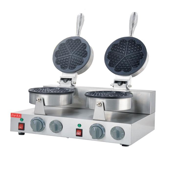 Máy làm các loại bánh tổ ong, bánh kẹp, Waffle Khuôn trái tim đôi