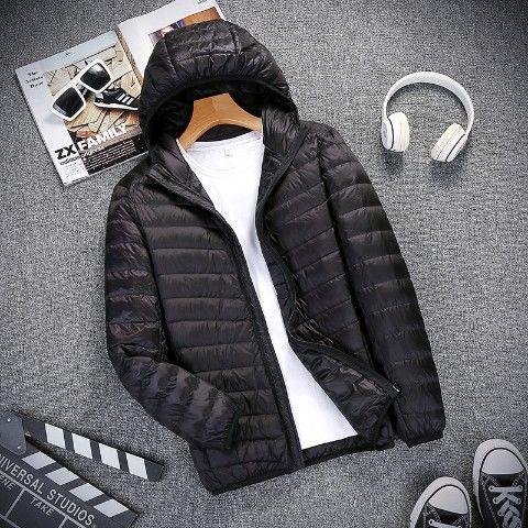 Áo khoác phao có mũ thiết kế mới siêu mỏng năng động thời trang mùa thu đông dành cho nam