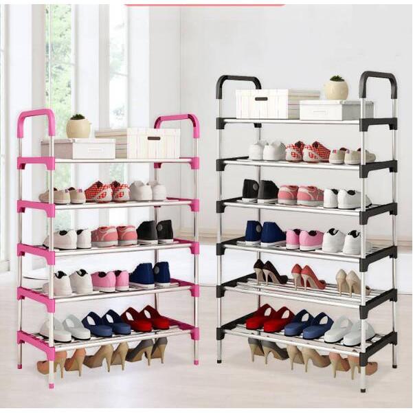Giá kệ để giày dép inox 5 tầng 6 tầng phong cách Hàn Quốc cao cấp