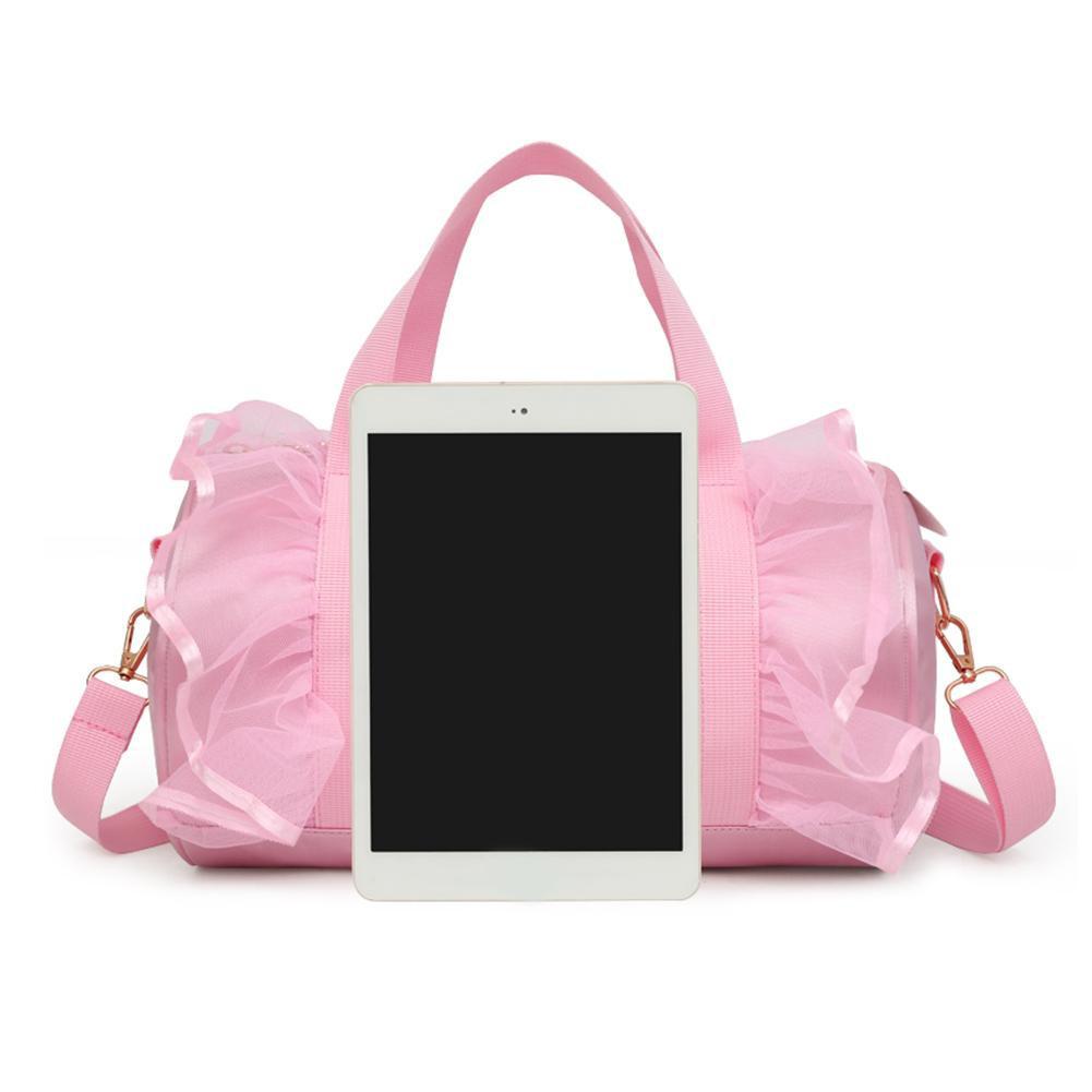 [SU]Sequin Dancer Print Kids Girls Shoulder Ballet Handbags Sport Crossbody Bag
