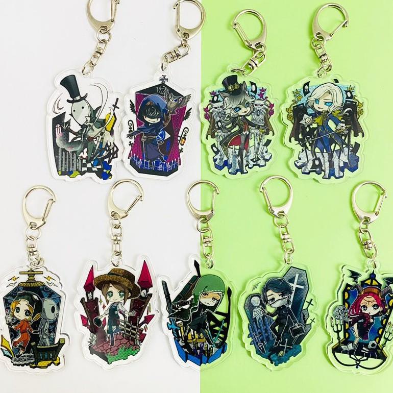 ( Mica trong acrylic ) Móc khóa in hình IDENTITY V NHÂN CÁCH THỨ NĂM ver NHÀ quà tặng dễ thương anime chibi game