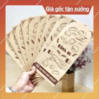 Yêu Thíchtui giay banh mi [Free ship] 500 túi bánh mì 13x25cm giấy kraff siêu đẹp + tiêu chuẩn an toàn thực phầm