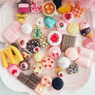 100pcs/Set Artificial Food Lollipop Candy Decor Figurine Toys Dollhouse DIY