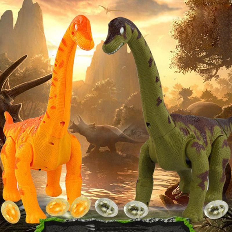 Large Electronic Dinosaur with Light Sound Function Kids Simulate Toy Random Color