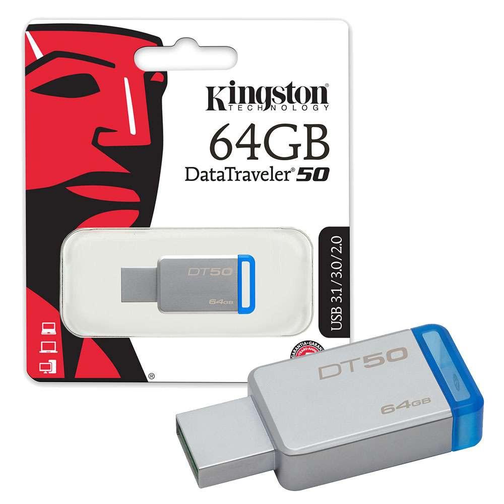 Thanh Nhớ Ngoài Kingston 64GB USB 3.0 DT50