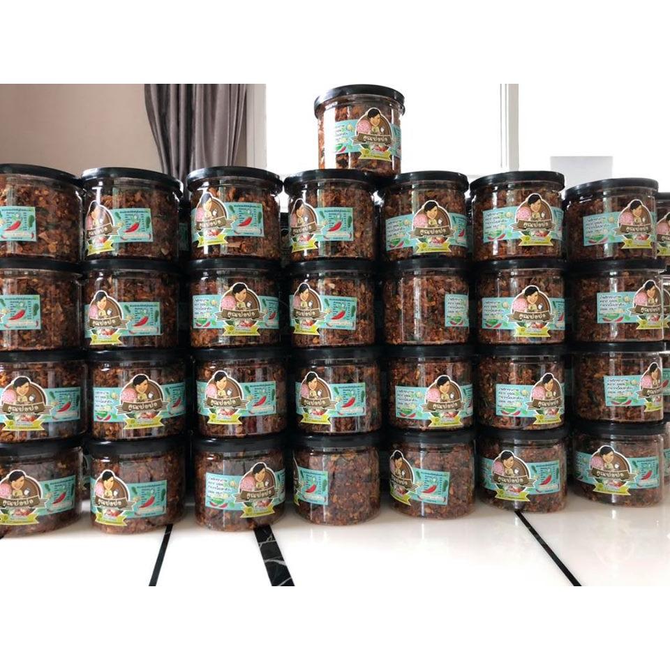 น้ำพริกปลาดุกฟู ขนาดกระปุก 350 ml 150 กรัมรวมกระปุก จำนวน25กระปุก
