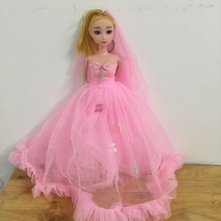 [HCM] Đồ chơi búp bê cô dâu công chúa khớp loại XỊN dành cho bé hoặc treo ô tô