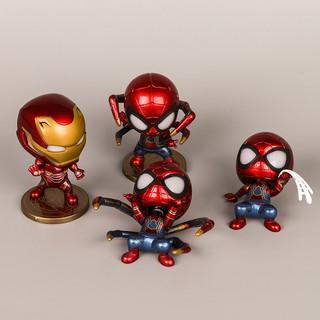 Mô Hình – Spider Man, Iron Man Có Led ( Bộ 4 )
