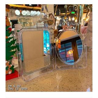 Gương để 2 mặt trong suốt xoay 360 độ