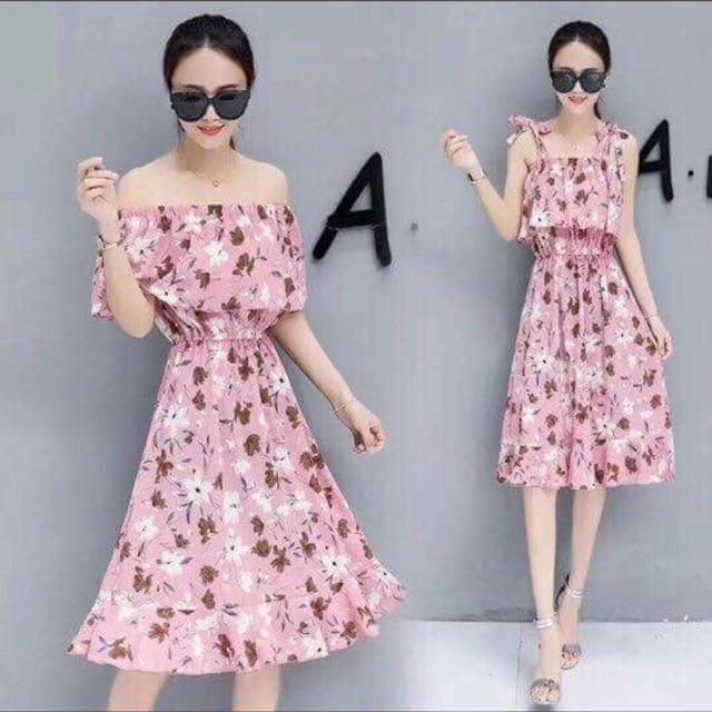 Váy Maxi chất đẹp Hàng Quảng Châu 1 size . New 2018