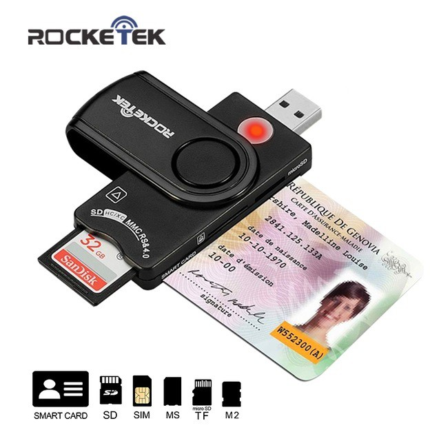 USB 2.0 multi Smart Card Reader SD/TF MS M2 micro SD memory ,ID,Bank card