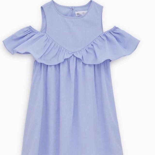 Váy zara kiểu hạ vai, có thể mặc thành dáng váy ba lỗ cũng rất xinh. Size to mẹ cũng có thể mặc được ạ. -hàn