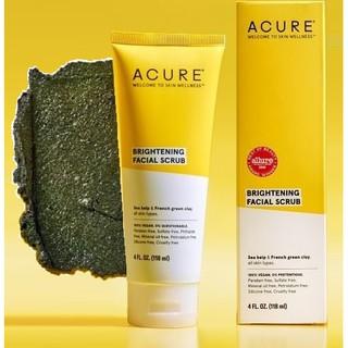 Sữa rửa mặt Acure Brilliantly Brightening Facial Scrub118ml tẩy tế bào chết làm sáng da
