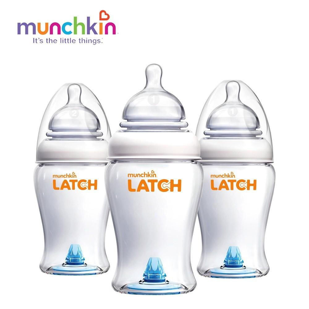 Bộ 3 bình sữa Latch (8oz)