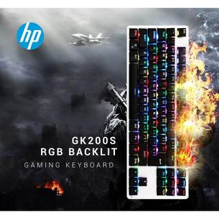 Bàn phím cơ led RGB chơi game HP GK 200s, blue switch, dây dù dài 1.8m, 87 phím, đèn xuyên phím, bảo hành chính hãng 12t