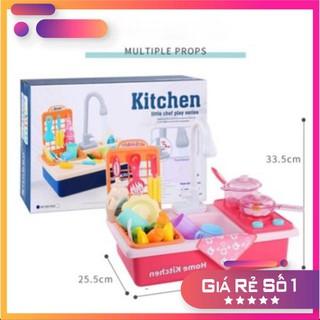 [HÃNG MODERN KITCHEN] Bộ đồ chơi rửa bát nấu ăn có nước chảy thật
