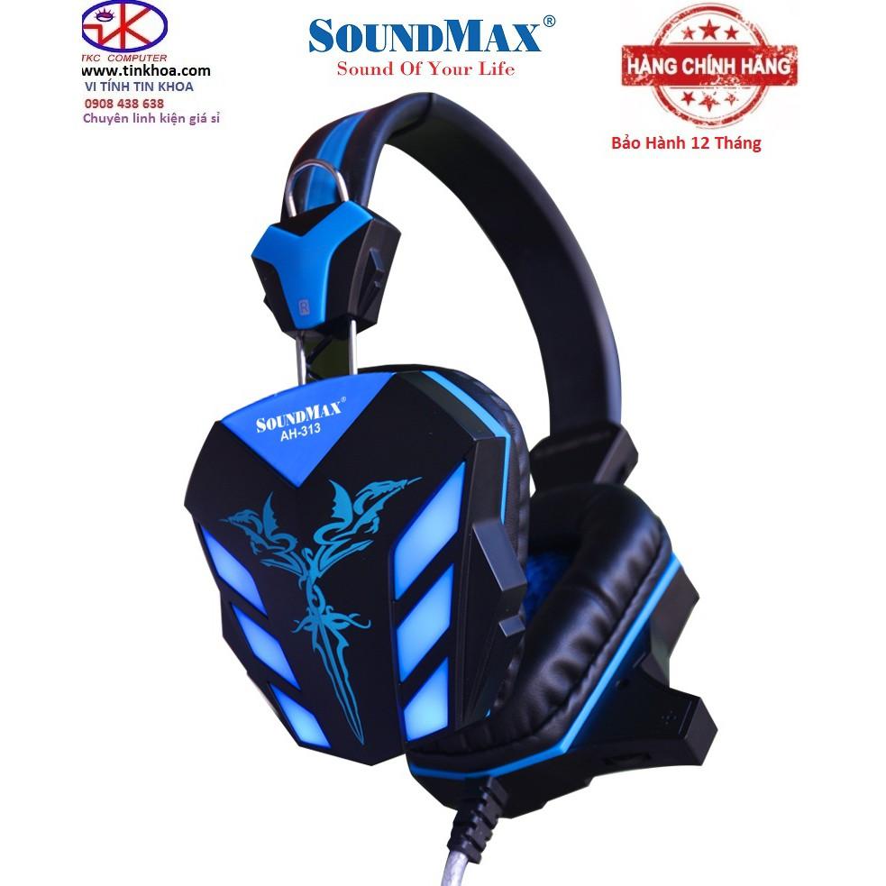 Tai nghe chụp tai SoundMax AH313 Chính Hãng Phân Phối BH 12 Tháng