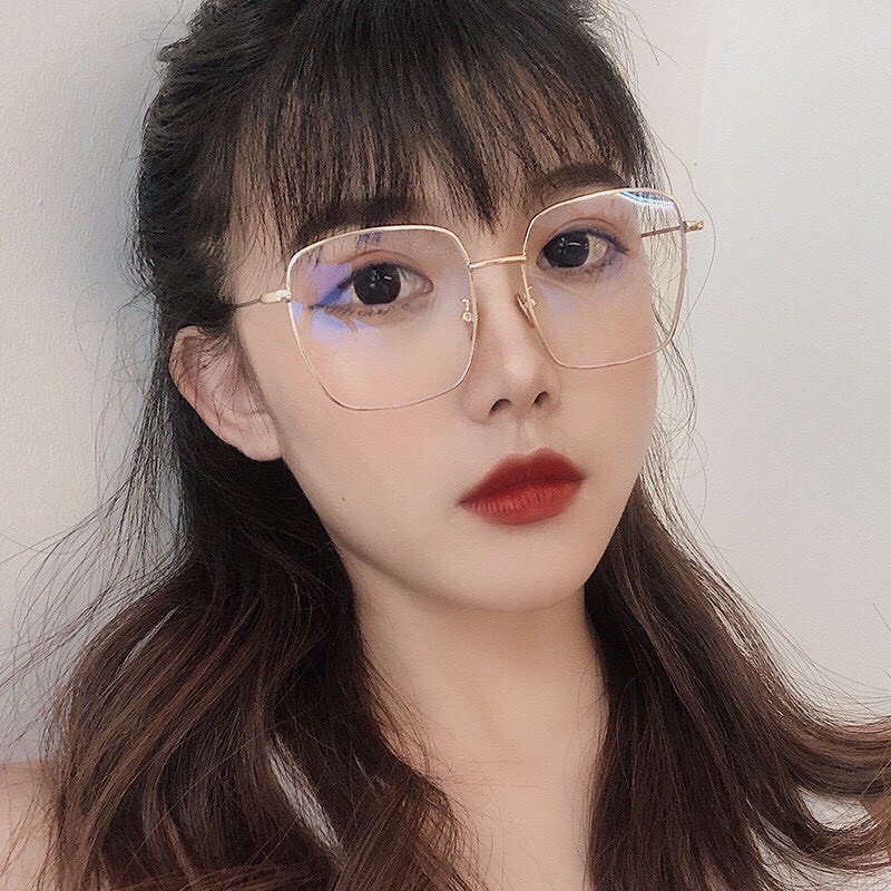 Kính giả cận thời trang nam nữ đẹp gọng vuông mắt kính chống tia UV phong cách Hàn Quốc PUKIXI...